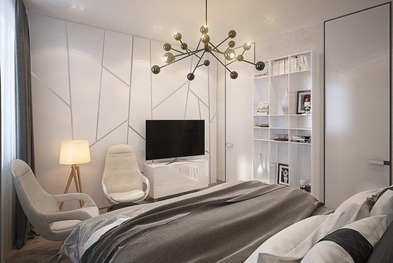 Спальня в современном стиле Bedroom View3