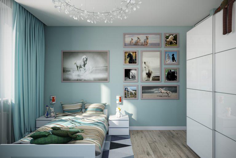 Детская комната девочки Икеа Chaildroom IKEA View01