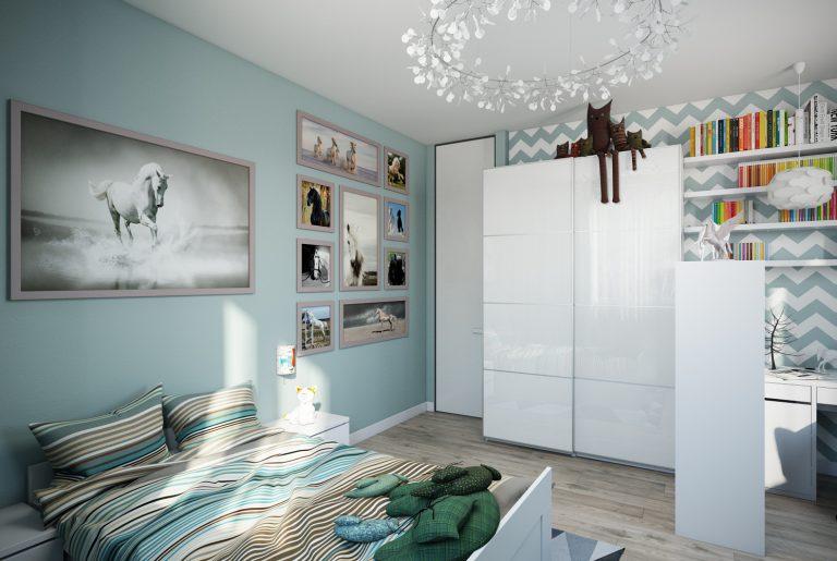 Детская комната девочки Икеа Chaildroom IKEA View02