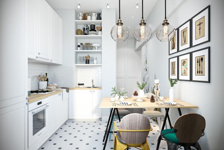 Кухня в скандинавском стиле Kitchen View09