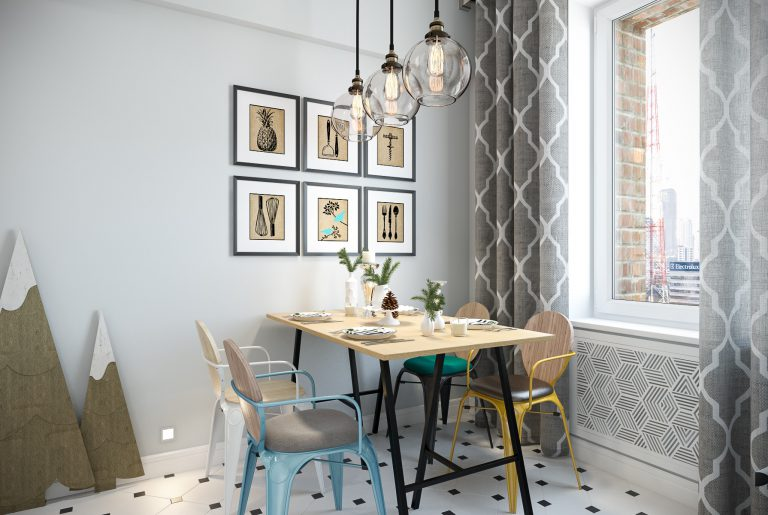 Кухня в скандинавском стиле Kitchen View11