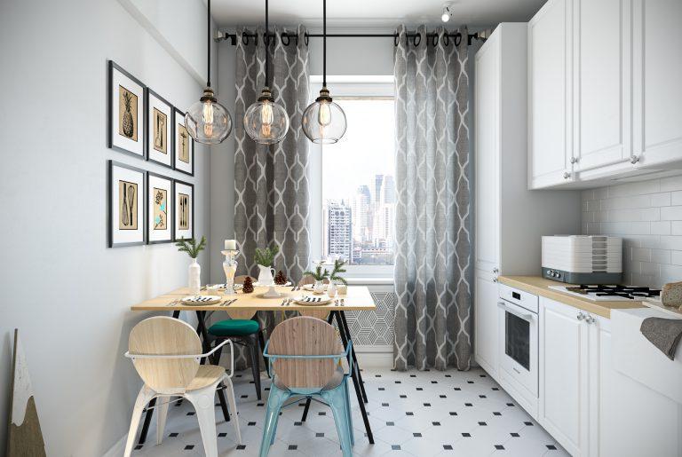 Кухня в скандинавском стиле Kitchen View12