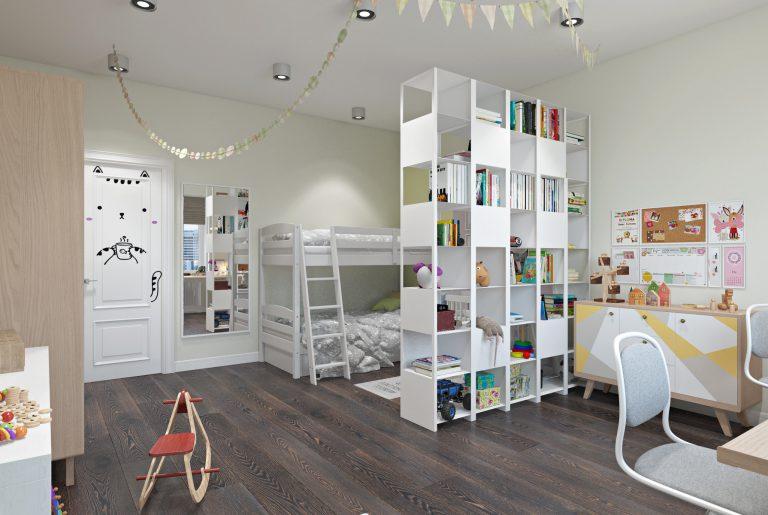 Детская комната для двух детей View08