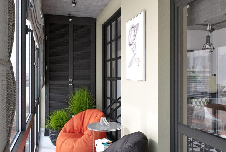 Балкон в стиле лофт Loft View19