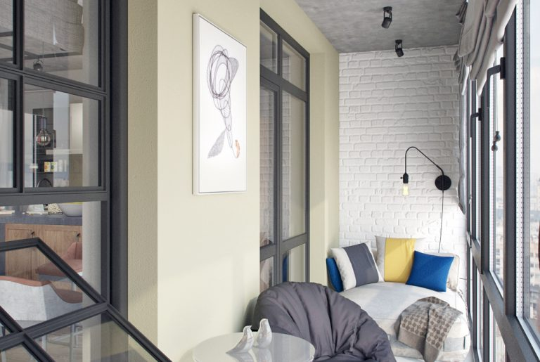 Балкон в стиле лофт Loft View20