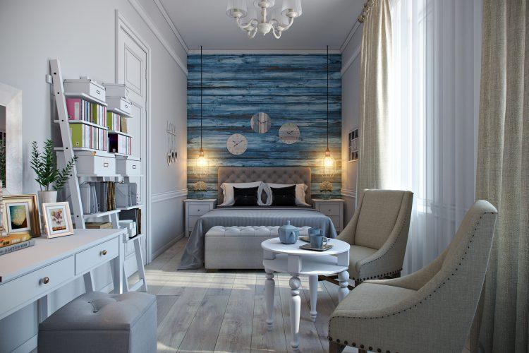 (RU) Дизайн спальни для семейной пары: проект в Санкт-Петербурге
