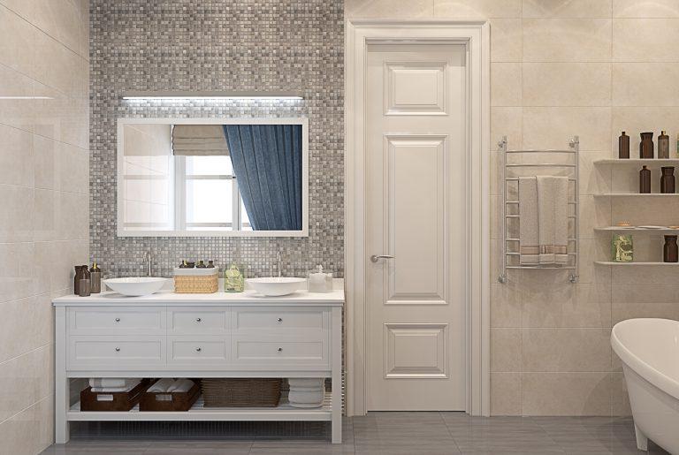 Ванная с мозаикой вид 2 bathroom