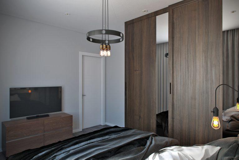 Современная гостевая спальня в загородном доме