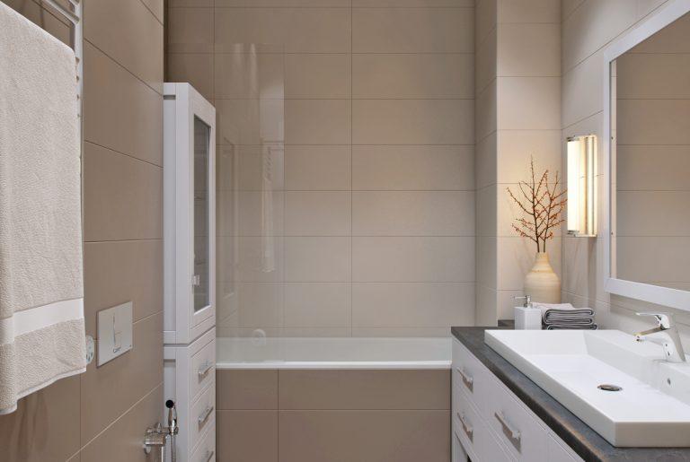 ванная с входом из мастер-спальни