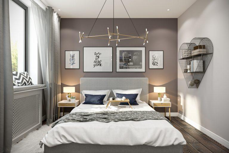 Спальня Bedroom (1) в стиле эклектика