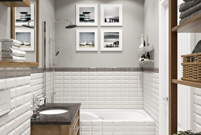 Ванная светлая bathroom (4) плитка с рисунками