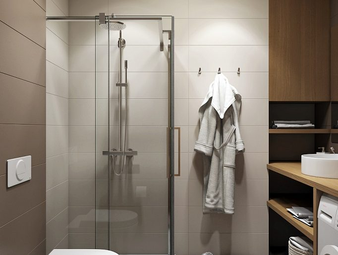 Ванная душевая Bathroom View02 дерево современный стиль