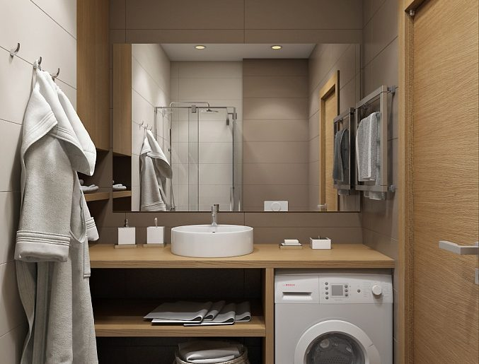 Ванная душевая Bathroom View04 дерево современный стиль