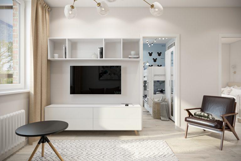 Студия гостиная (2) скандинавский стиль
