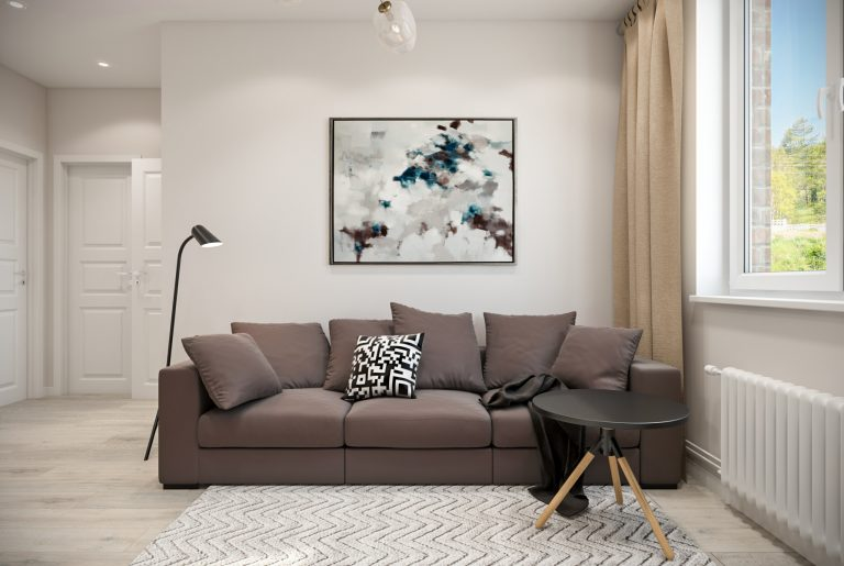 Студия гостиная (4) скандинавский стиль