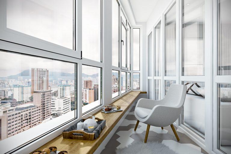 Балкон вид 1