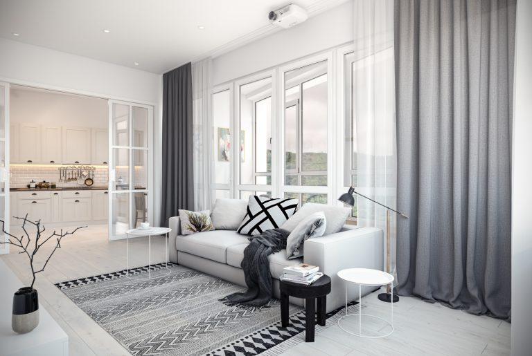 Гостиная в скандинавском стиле Living room in Scandinavian style