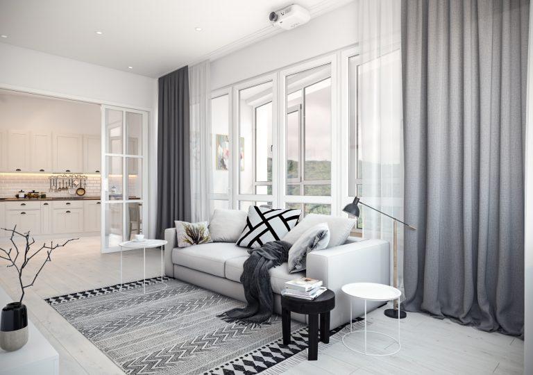 Квартира 110 кв.м. в скандинавском стиле в ЖК «V-House»