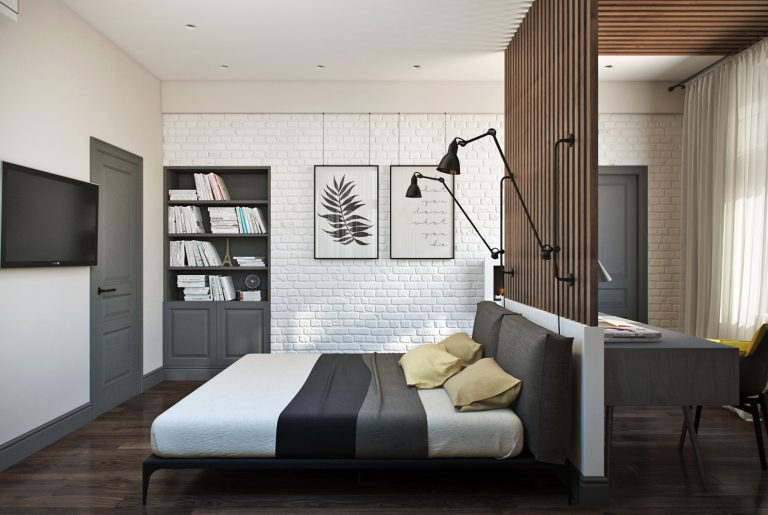 Спальня Bedroom View современный стиль