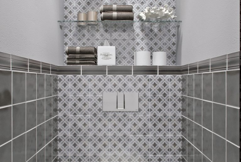 Санузел ар-деко вид спереди Art Deco Bathroom Front View