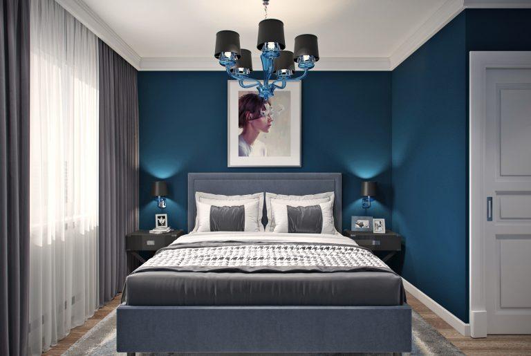спальня ар-деко синяя ар-деко