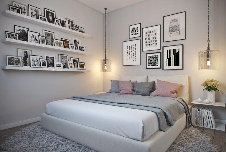 Спальня в современнос стиле со светопрозрачной перегородкой View09