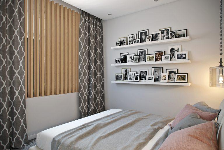 Спальня в современнос стиле со светопрозрачной перегородкой View10