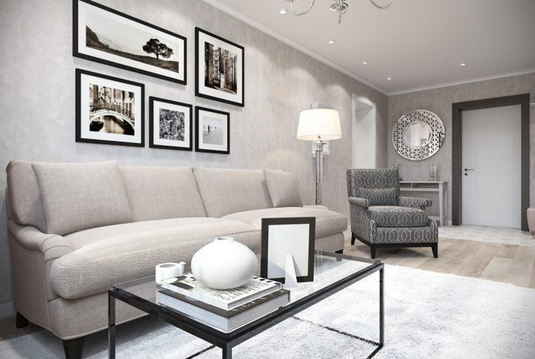 Гостиная-Livingroom (3) в стиле эклектика в санкт-петербурге