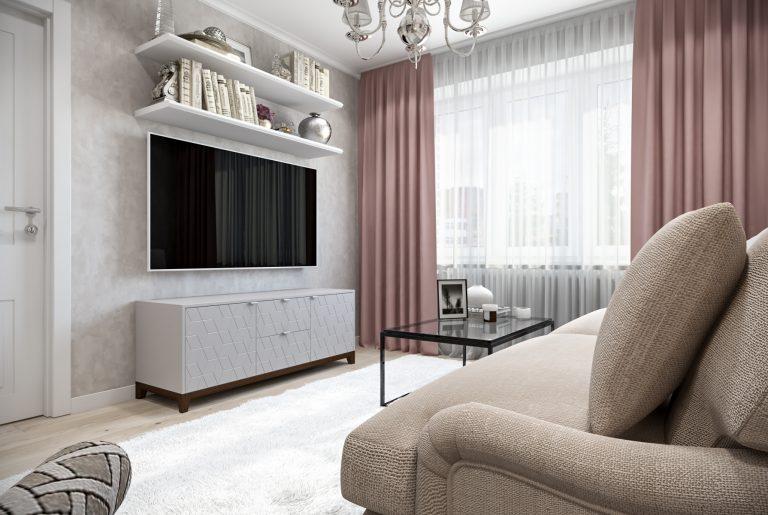 Гостиная-Livingroom (4) в стиле эклектика в санкт-петербурге