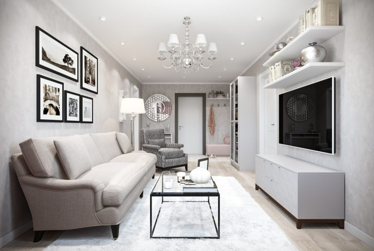 Гостиная-Livingroom (6) в стиле эклектика в санкт-петербурге