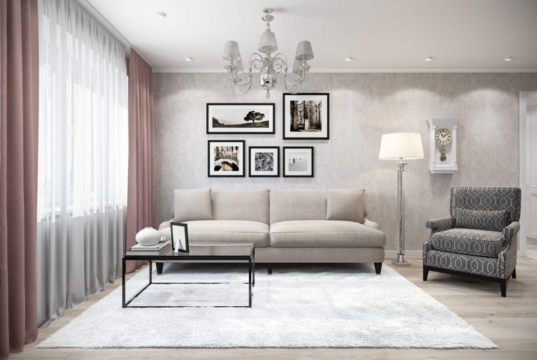 Гостиная-Livingroom (7) в стиле эклектика в санкт-петербурге