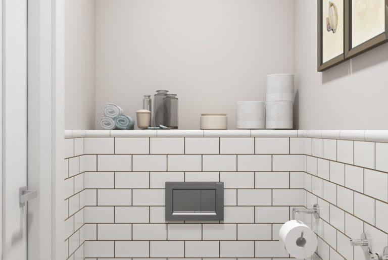 Туалет американская классика