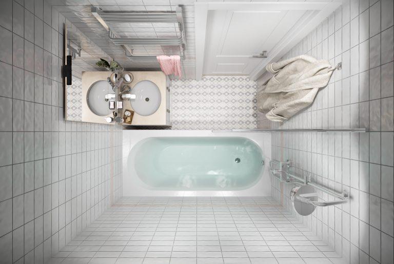 Ванная-Bathroom (2) в стиле эклектика в санкт-петербурге вид сверху