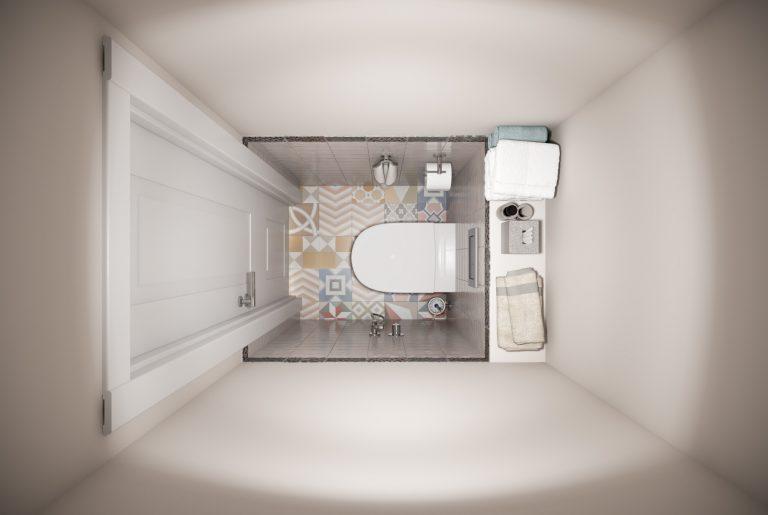 Ванная-Bathroom (6) в стиле эклектика в санкт-петербурге вид сверху