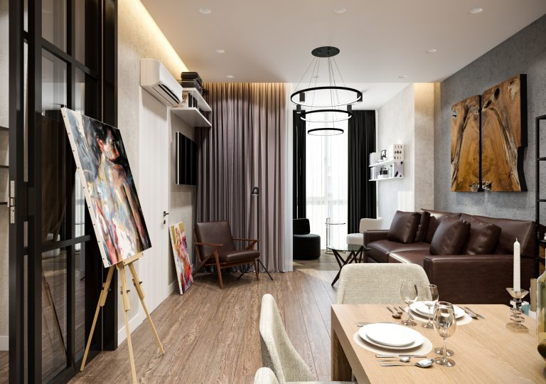 The apartment of 73 sq.m. in a modern style