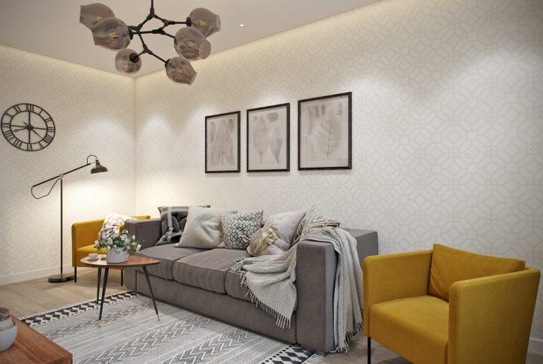 gostinaya-living room2 в скандинавском стиле