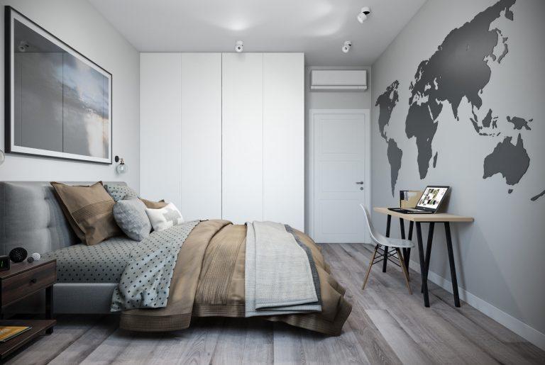 спальня- bedroom3 в стиле лофт