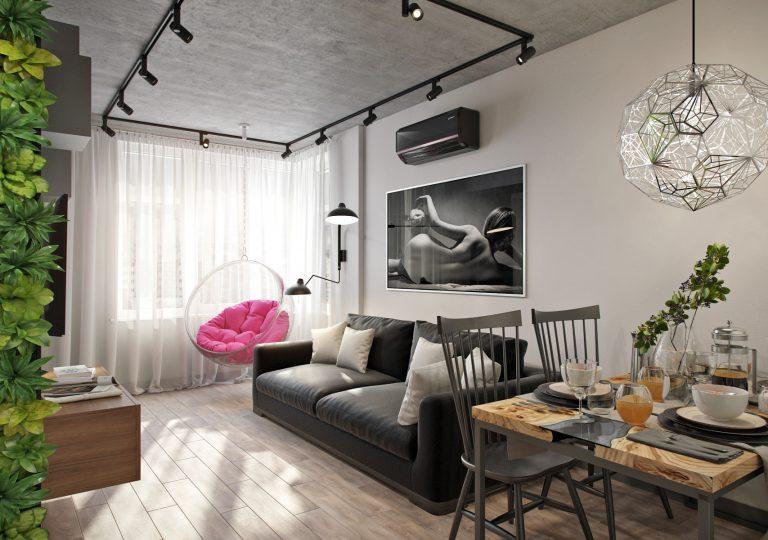 Квартира 50 кв.м. в стиле эклектика в ЖК ART