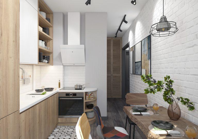 Квартира 55 кв.м. в скандинавском стиле в старом доме