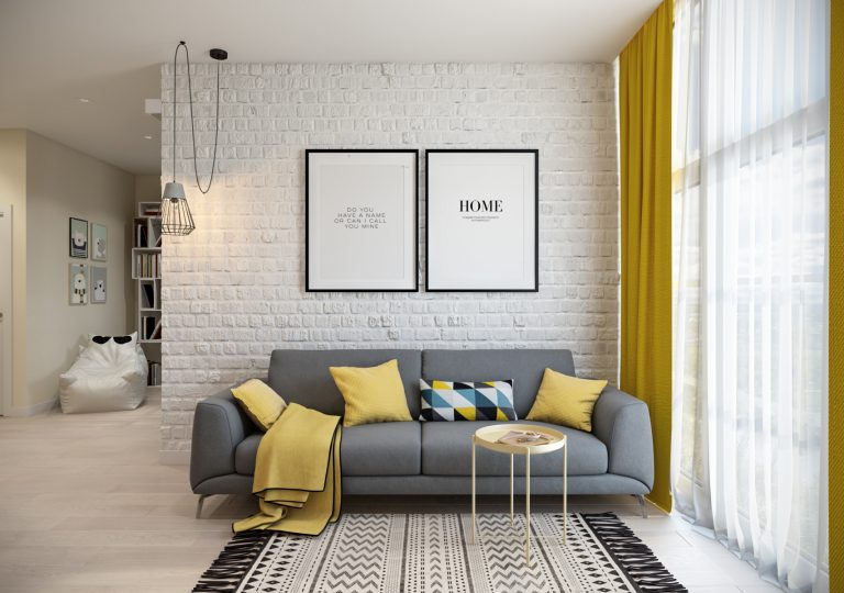 The apartment of 45 sq.m. in scandinavian style