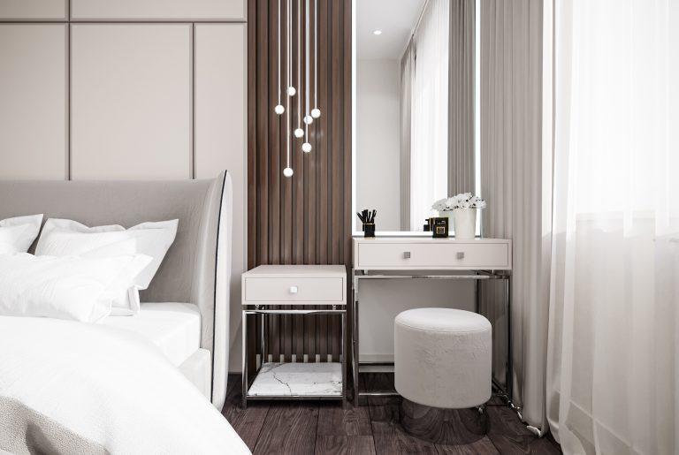 туалетный столик в современной спальне