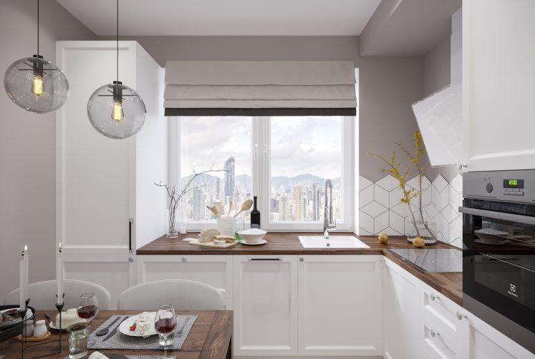 кухня у окна