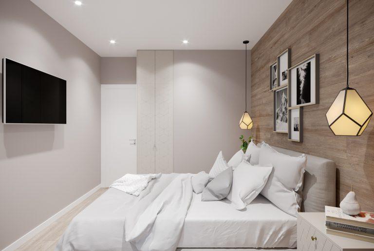 спальня со шкафом-гардеробом