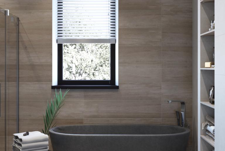 черная отдельностоящая ванна