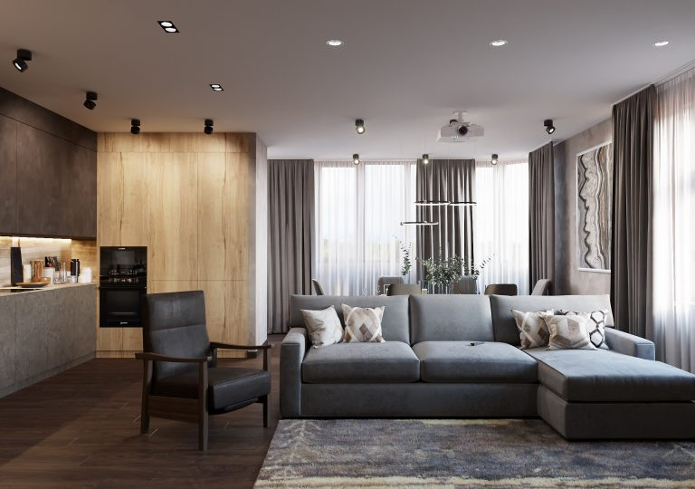 The apartment of 140 sq.m. in a contemporary style