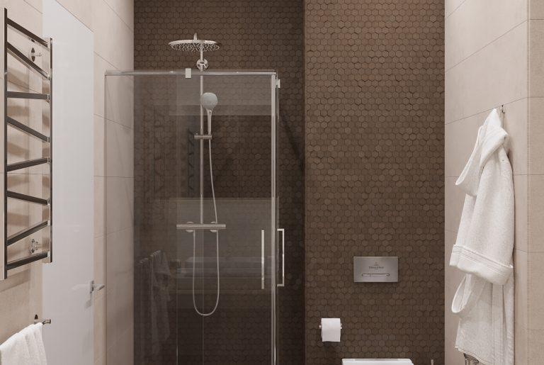 душевая в мастер-ванной