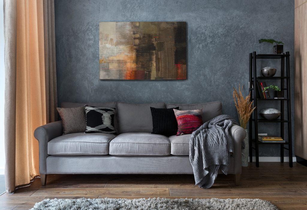 диван с картиной