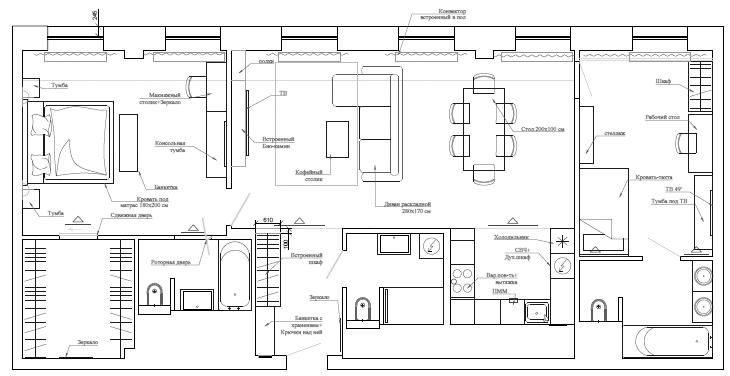 Схема расстановки мебели в ЖК I'M
