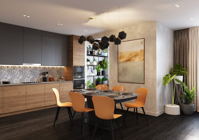 The apartment of 155 sq.m. in a contemporary style