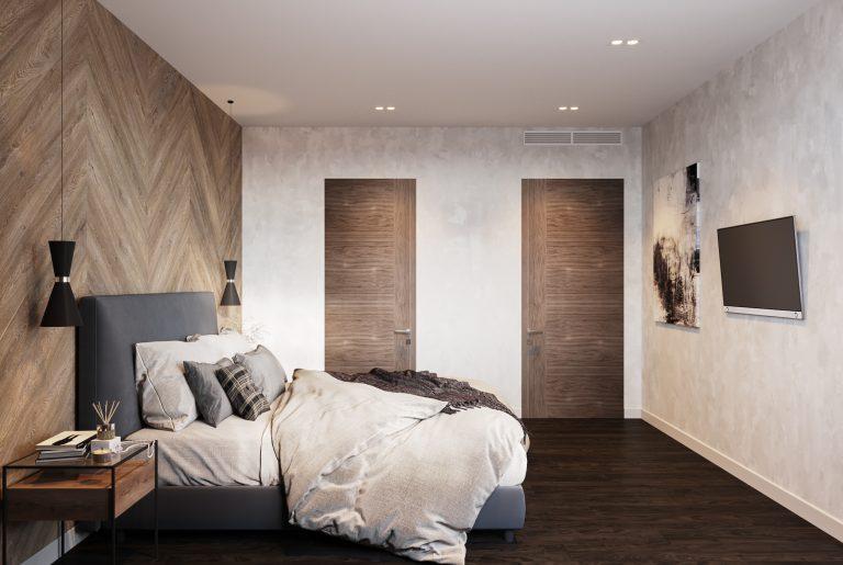 мастер-спальня с гардеробом